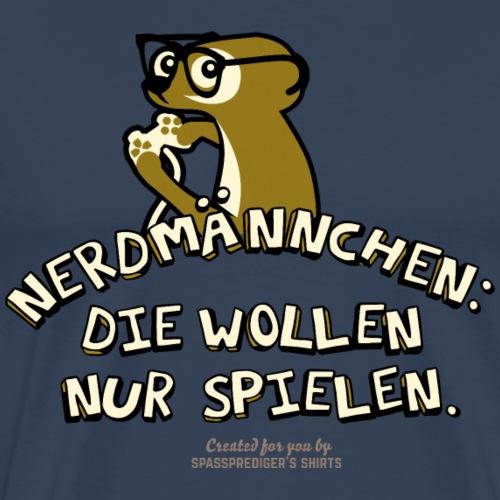 Gamer Design Nerdmännchen | Geek T-Shirts - Männer Premium T-Shirt