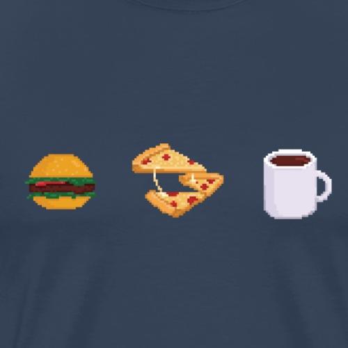 Pixel geeky food - T-shirt Premium Homme