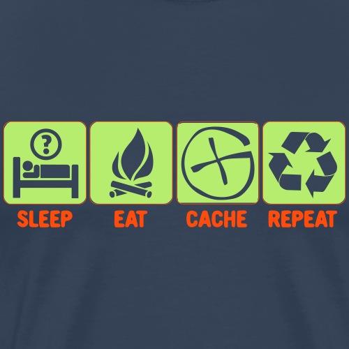 Sleep, Eat, Cache, Repeat - Männer Premium T-Shirt