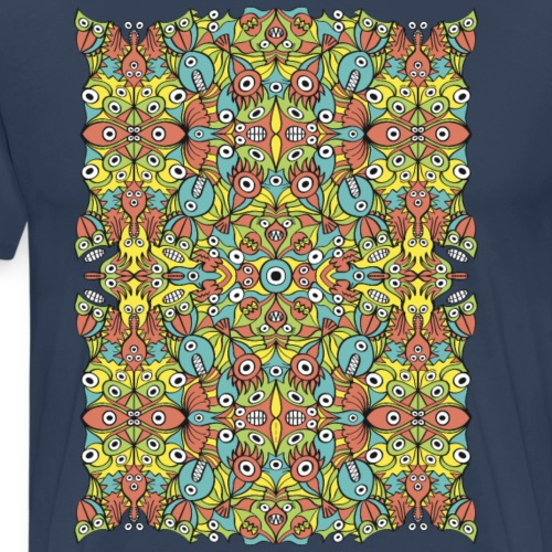 Weird creatures multiplying infinitely - Men's Premium T-Shirt