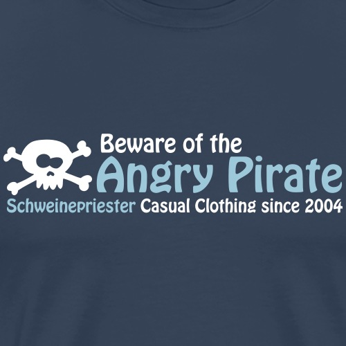 Angry Pirate - Männer Premium T-Shirt