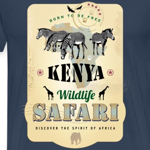 Zebras Wildlife Safari Kenya Afrika Abenteuer - Men's Premium T-Shirt