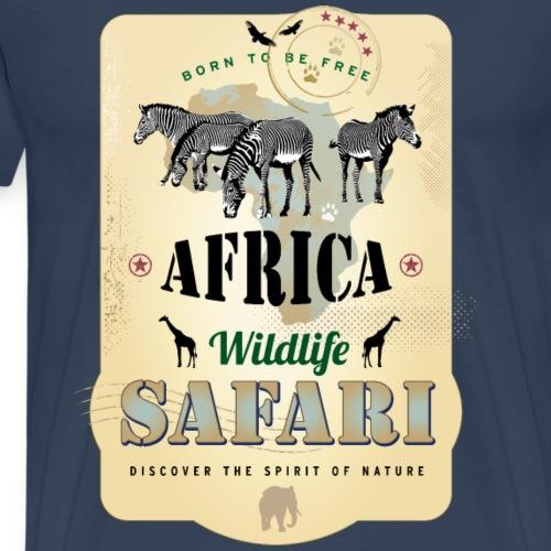 Zebras Africa Wildlife Safari Afrika Abenteuer - Men's Premium T-Shirt