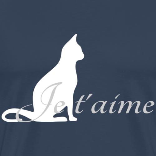 Chat blanc - Je t'aime - T-shirt Premium Homme