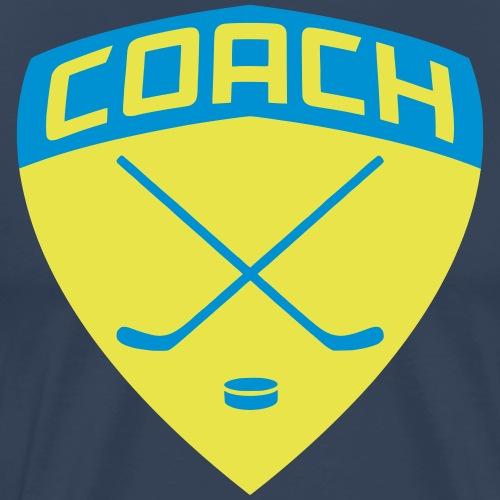 ice-hockey-coach-blue_vec - Men's Premium T-Shirt