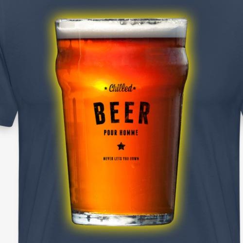 Chilled Beer Long Sleeve T-Shirt - Men's Premium T-Shirt