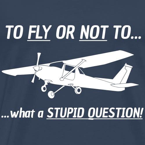 Pilot Cessna Motorflieger Flugzeug Geschenk Tshirt - Männer Premium T-Shirt