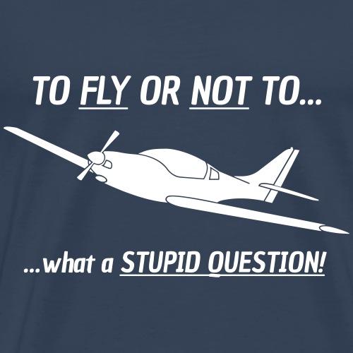Pilot vl3 Motorflieger Flugzeug Geschenk Tshirt - Männer Premium T-Shirt