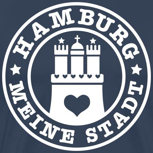 HAMBURG MEINE STADT Wappen 1c - Männer Premium T-Shirt