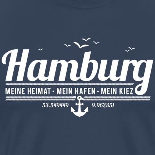Hamburg - meine Heimat, mein Hafen, mein Kiez - Männer Premium T-Shirt