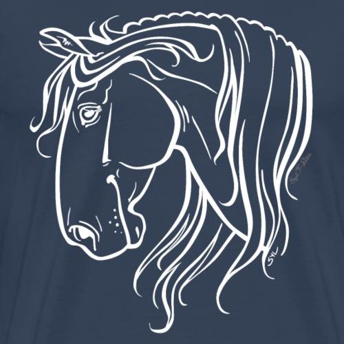 Cheval espagnol (blanc) - T-shirt Premium Homme