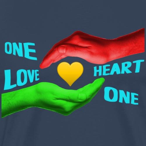 One love - one heart - Männer Premium T-Shirt