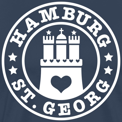 Ich liebe Hamburg Stadtteil St. Georg 1c - Männer Premium T-Shirt