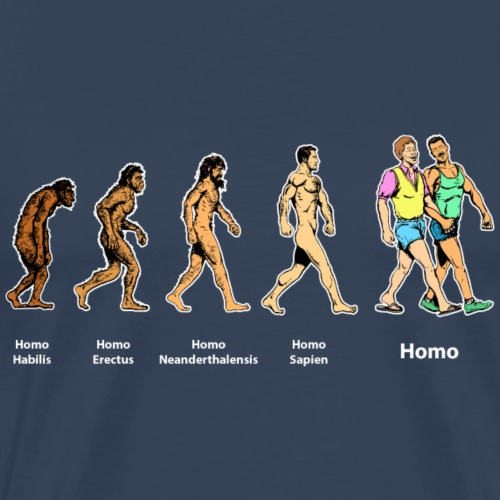 Homo evolution - Premium T-skjorte for menn