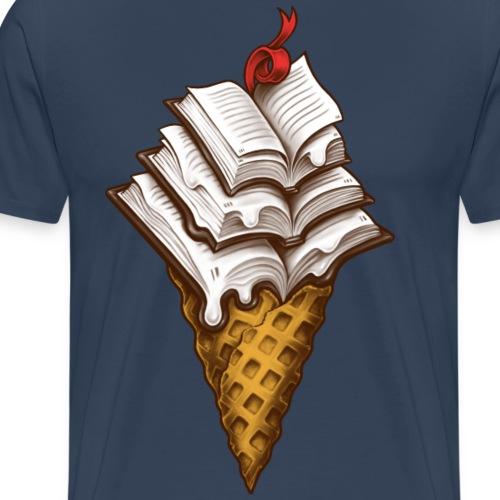 Ice Cream Books - Men's Premium T-Shirt