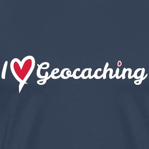 I love Geocaching - Männer Premium T-Shirt