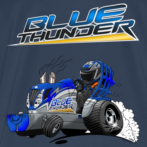Cartoon + BlueThunder - Mannen Premium T-shirt