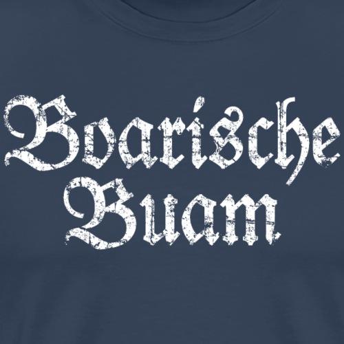 Boarische Buam Männer aus Bayern (Vintage Weiß) - Männer Premium T-Shirt