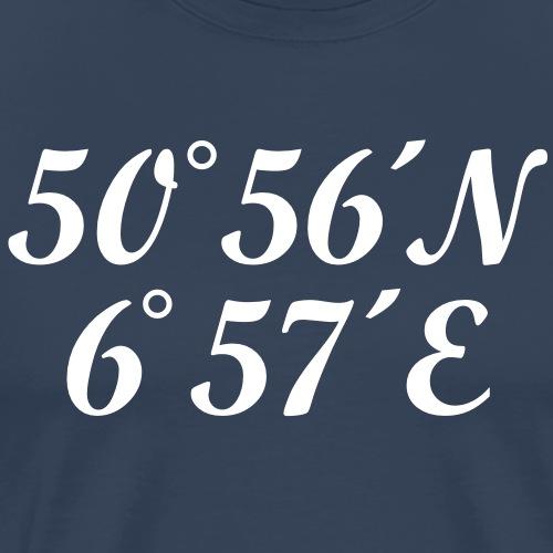 Köln Kölner Dom Koordinaten - Männer Premium T-Shirt