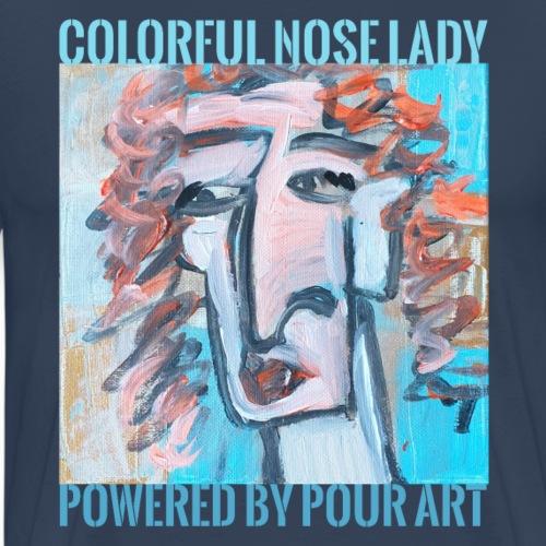 Colorful nose lady - Herre premium T-shirt