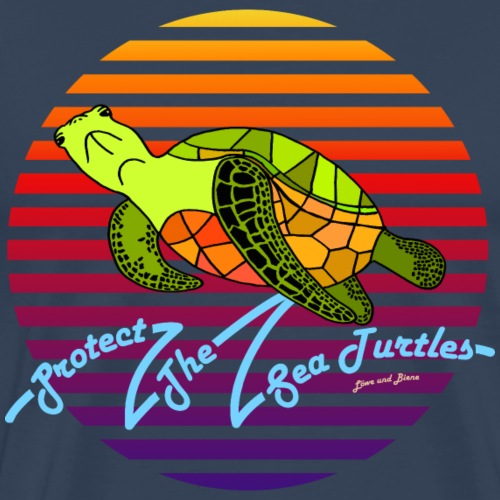 Protect The Sea Turtles - Männer Premium T-Shirt