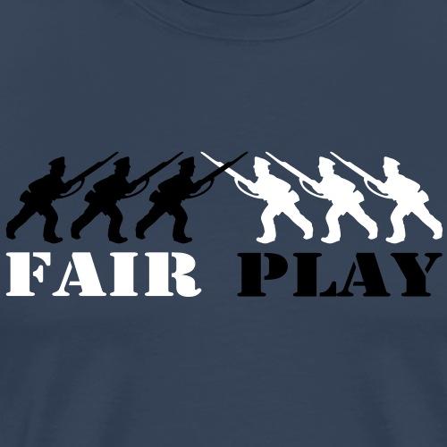 2 col - tabletop games soldier soldat fair play - Männer Premium T-Shirt