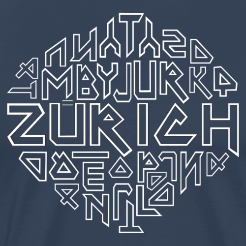 Kanton Zürich Schweiz - Männer Premium T-Shirt