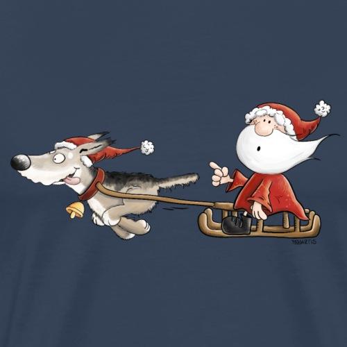 Weihnachtsmann mit Hundeschlitten I Weihnachten - Männer Premium T-Shirt