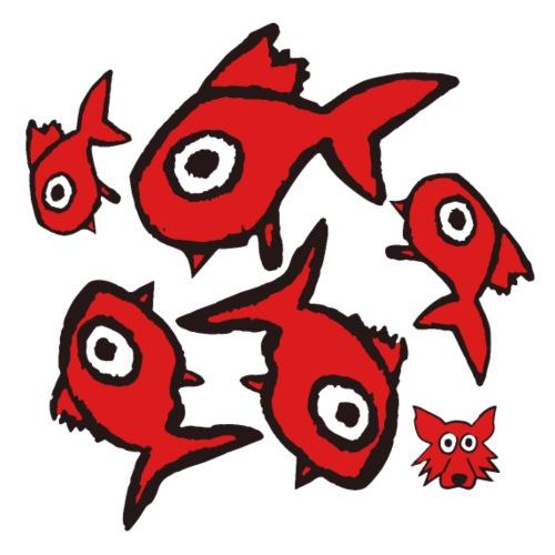 red fishes - Maglietta Premium da uomo