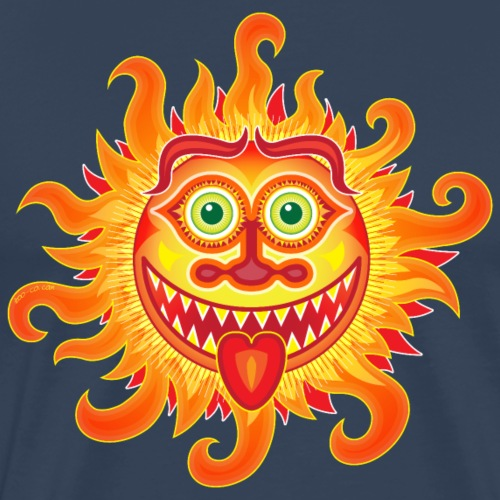 Summer shiny sun grinning and sticking tongue out - Men's Premium T-Shirt