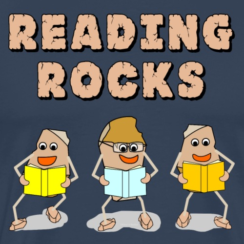 Reading Rocks Funny Book Lovers - Men's Premium T-Shirt