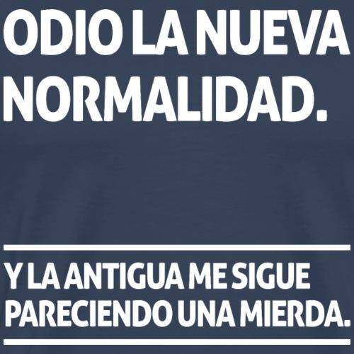 Odio la nueva normalidad (dark) - Men's Premium T-Shirt