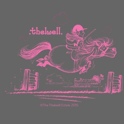 PonyJump Pink Thelwell Cartoon - Men's Premium T-Shirt