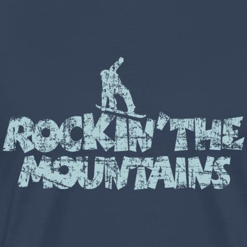Rockin The Mountains Snowboard Boarder - Männer Premium T-Shirt