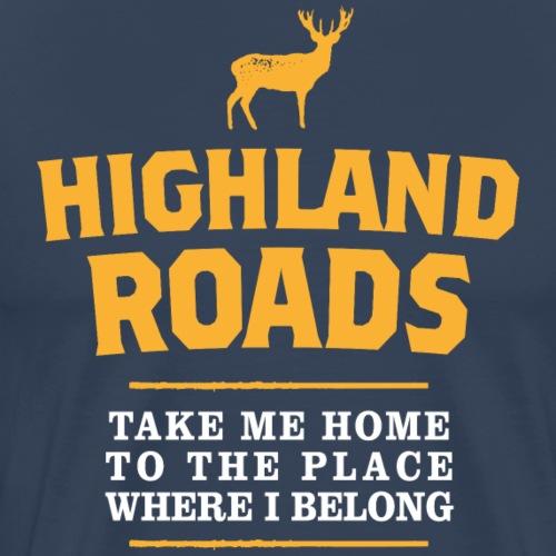 Highland Roads - Männer Premium T-Shirt
