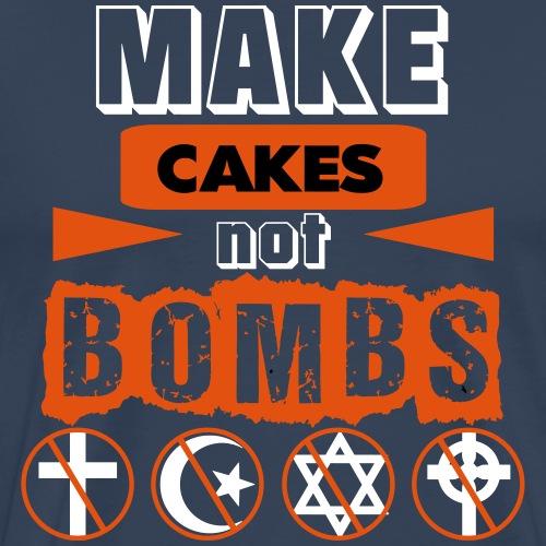 Make Cakes Not Bombs - Men's Premium T-Shirt