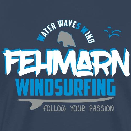 Fehmarn Windsurf-Design - Männer Premium T-Shirt