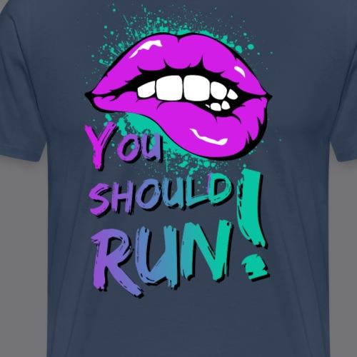 KISS tee shirts (You should run!) - Men's Premium T-Shirt