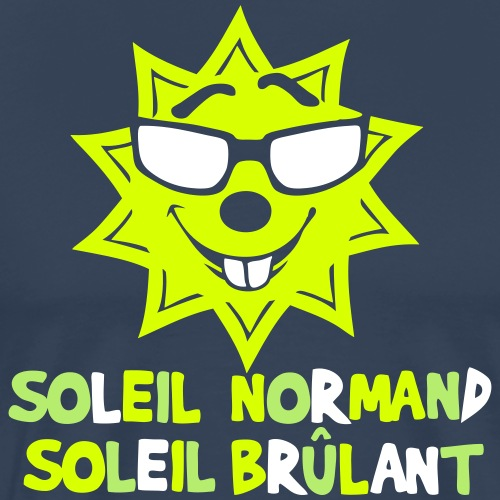 soleil normand brulant citation humour - T-shirt Premium Homme