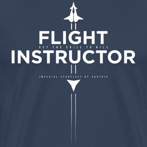 FlightInstructor white - Männer Premium T-Shirt