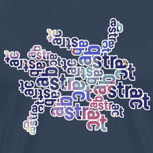 Abstract text 001 - Mannen Premium T-shirt