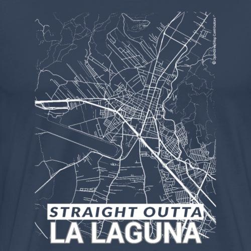 Straight Outta La Laguna city map and streets - Men's Premium T-Shirt