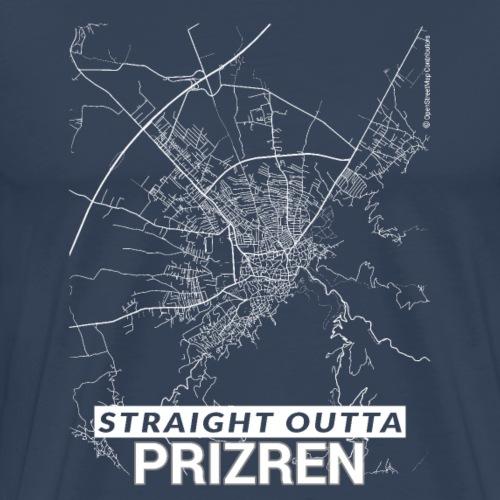 Straight Outta Prizren city map and streets - Men's Premium T-Shirt
