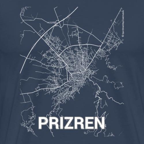 Prizren city map and streets - Men's Premium T-Shirt