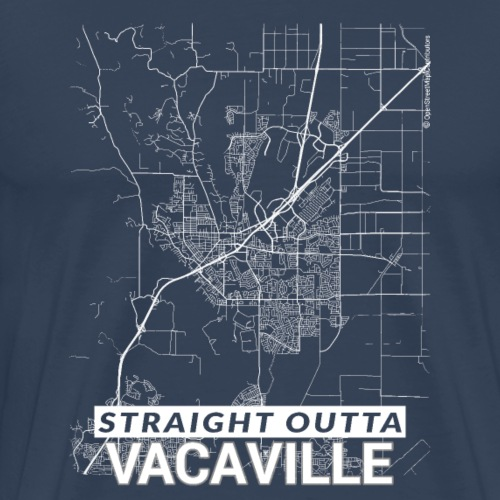 Straight Outta Vacaville city map and streets - Men's Premium T-Shirt