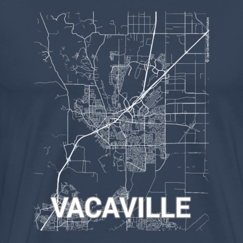 Vacaville city map and streets - Men's Premium T-Shirt