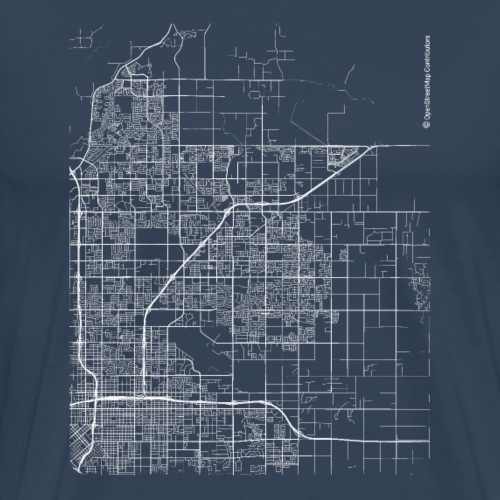 Minimal Clovis city map and streets - Men's Premium T-Shirt