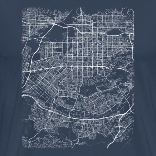 Minimal West Covina city map and streets - Men's Premium T-Shirt