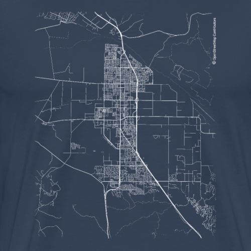 Minimal Santa Maria city map and streets - Men's Premium T-Shirt