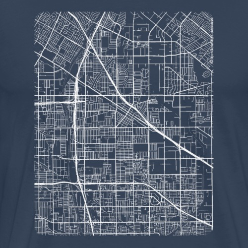Minimal Norwalk city map and streets - Men's Premium T-Shirt